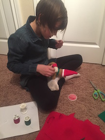 sewing up new Christmas traditions