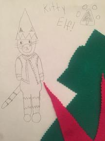 felt scraps for elf cat suit